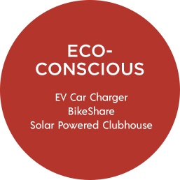 Eco-Conscious | EV Car Charger, BikeShare, Solar Powered Clubhouse