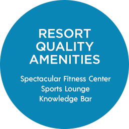 Resort Quality Amenities | Spectacular Fitness Center, Sports Lounge, Knowledge Bar