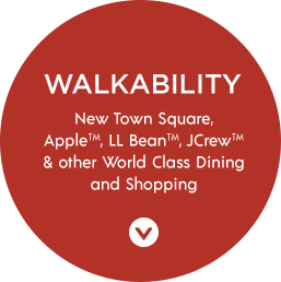 Walkability | New Town Square, Apple, LL Bean, JCrew, & other World Class Dining and Shopping